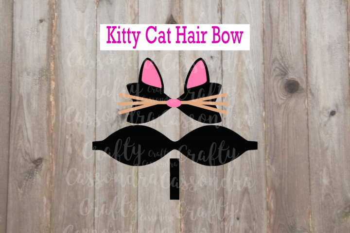 Kitty Cat hair bow