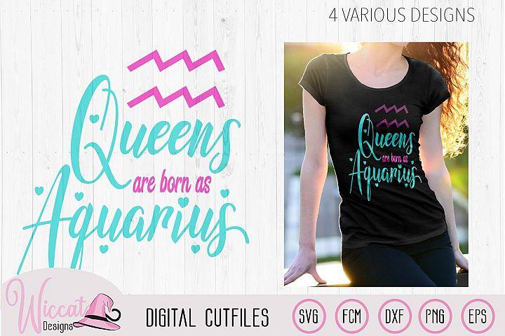 Aquarius svg, Queens are born as Aquarius, Zodiac svg,
