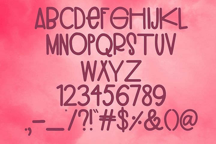 Inflatable Flamingo Font example 4