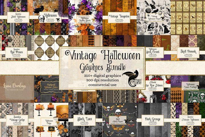 Vintage Halloween Bundle - 350 Textures, Patterns and Clip A