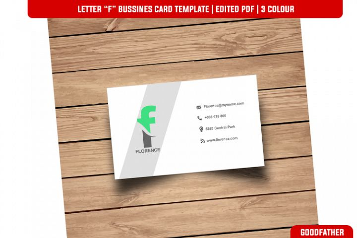 Letter F Creative Bussines Card Template