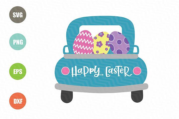 Easter Truck SVG, Happy Easter SVG
