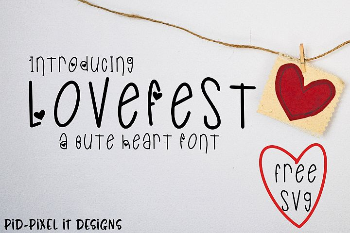 LoveFest A Cute Heart Font