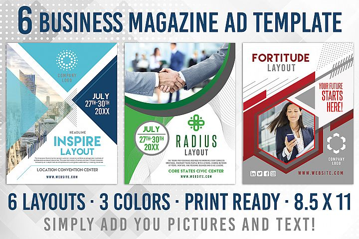6 Business Corporate Magazine Flyer Template