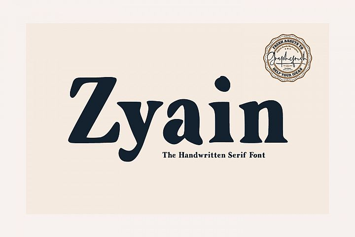 Zyain - The Handwritten Serif Font