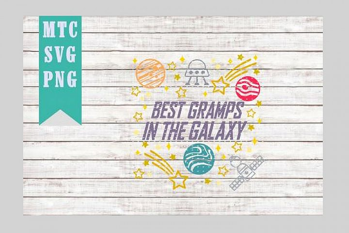 Best GRAMPS in the Galaxy Design #01 Embellishment SVG Cut