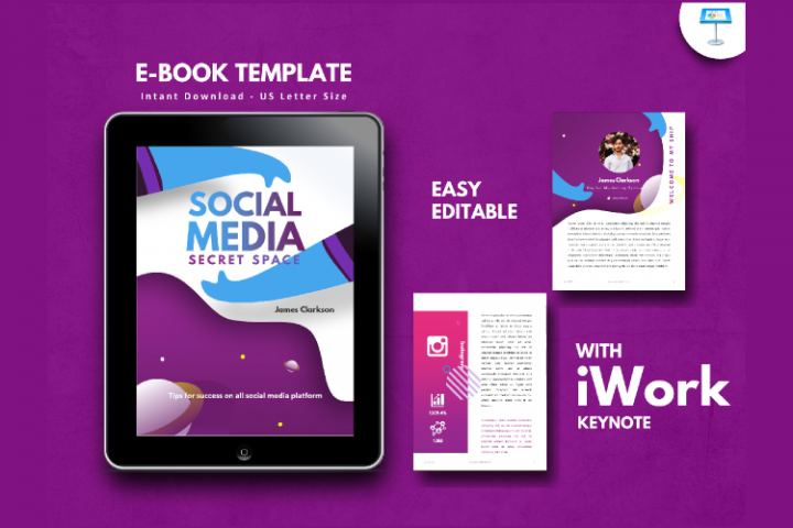 Social Media Marketing Tips eBook Template Keynote Presentat