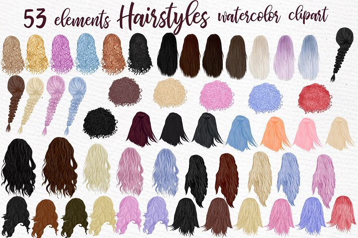 Hairstyles clipart, Girls clipart, Custom hairstyles