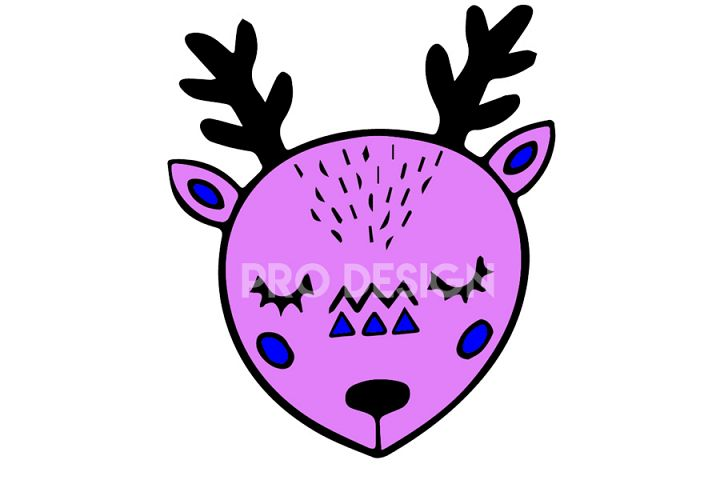 Cute Deer Vector Illustration