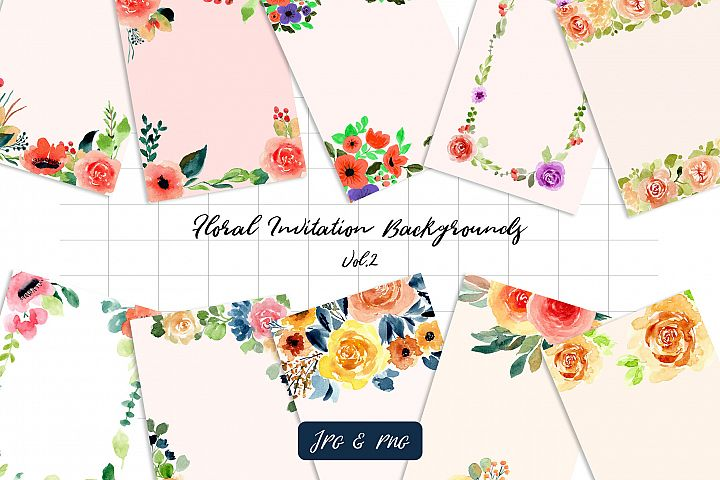 Floral Invitation Backgrounds Vol.2