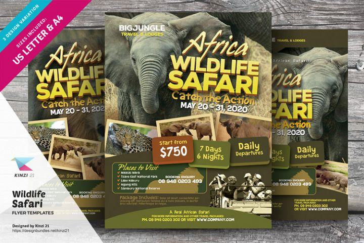 Wildlife Safari Flyer Templates