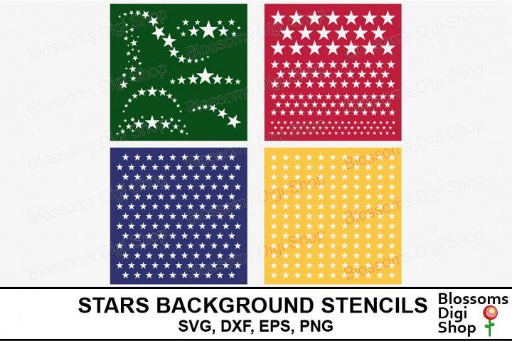 Stars Background Stencils