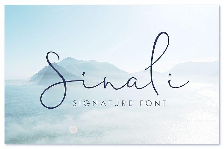 Sinali - handwritten calligraphy font