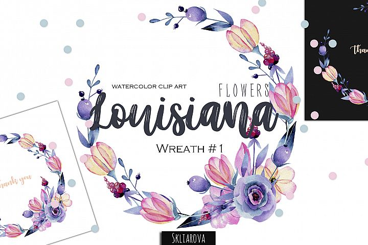 Louisiana flowers. Wreath#1
