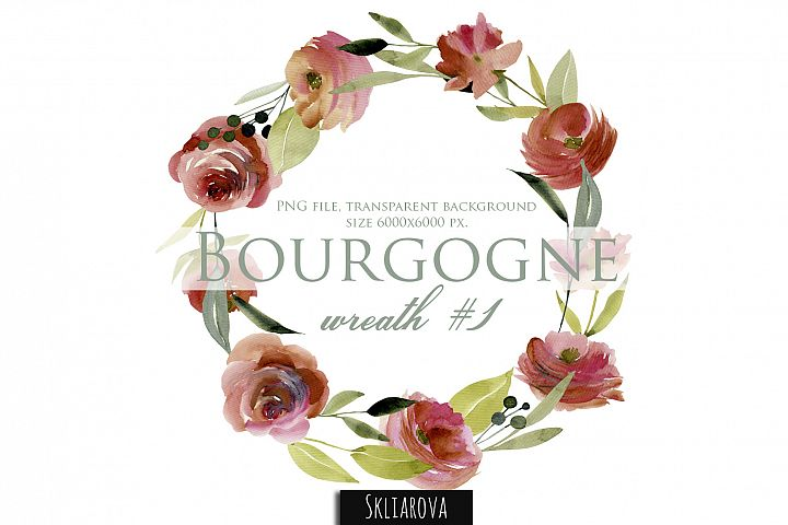 Bourgogne. Wreath #1