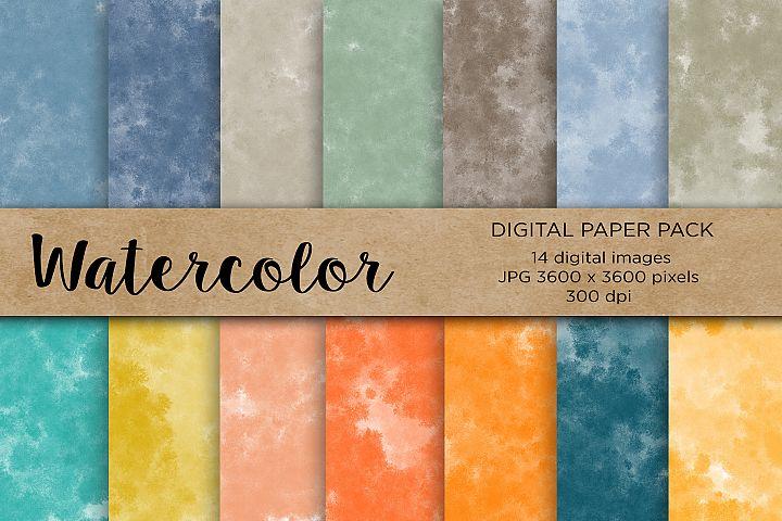 Watercolor Digital Paper,Wedding, Wedding Invitation Papers