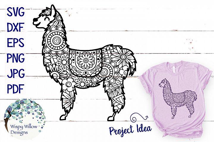 Llama Zentangle SVG