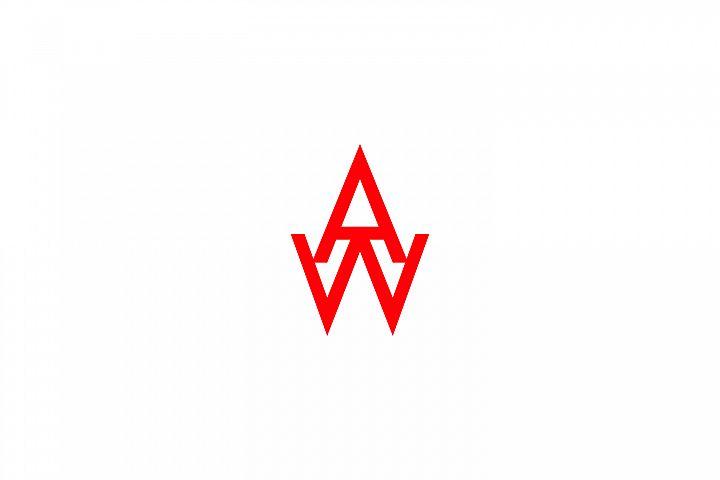 aw letter logo