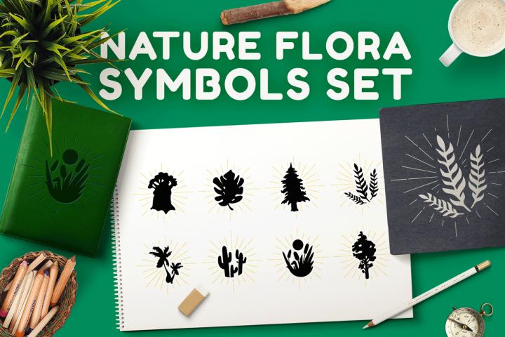 Nature Flora Symbols Set