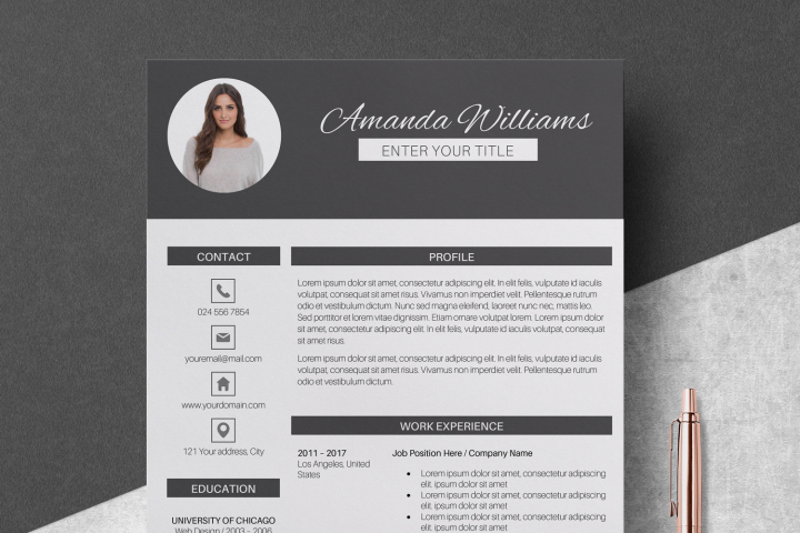 Resume Template | CV Cover Letter - Amanda Williams