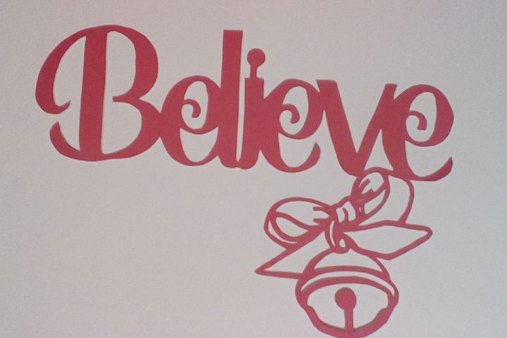 Believe Papercutting Template
