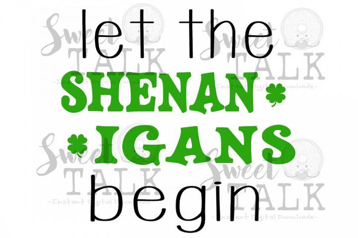 St. Patricks Day digital download-Let the Shenanigans begin