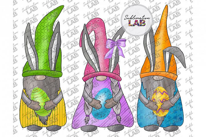 Easter Bunny Gnomes Digital Download PNG Spring Gnomes Ears