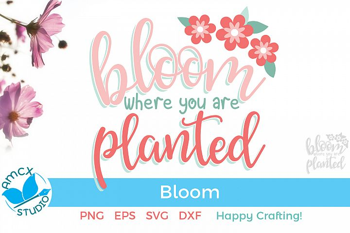 Bloom where you are planted - Flower SVG Craft File