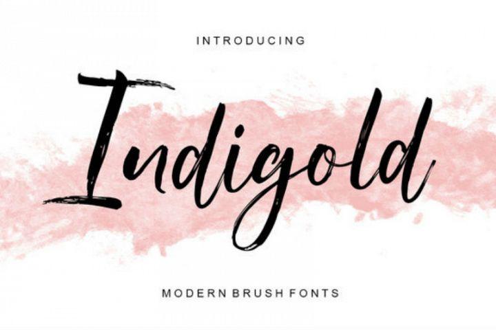 Indigold Script Font