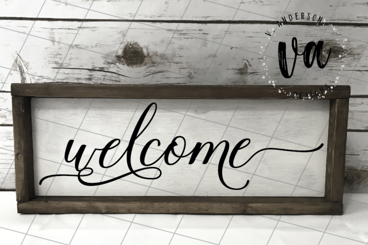 Welcome Sign SVG