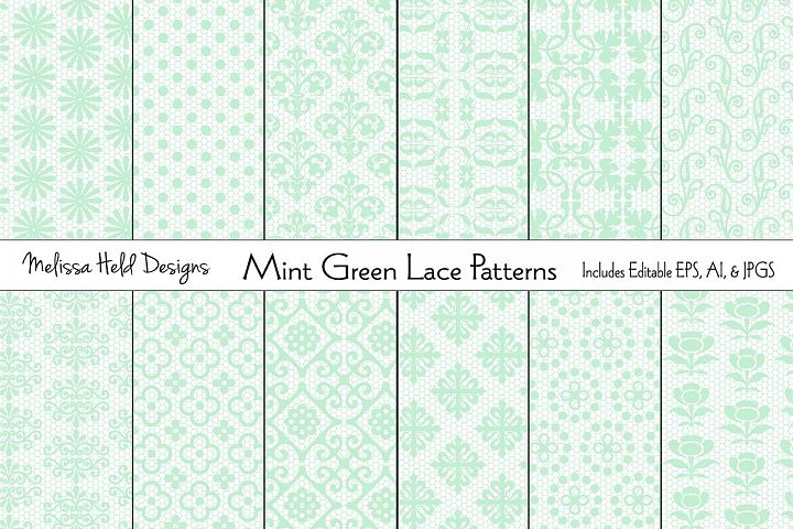 Mint Green Lace Patterns