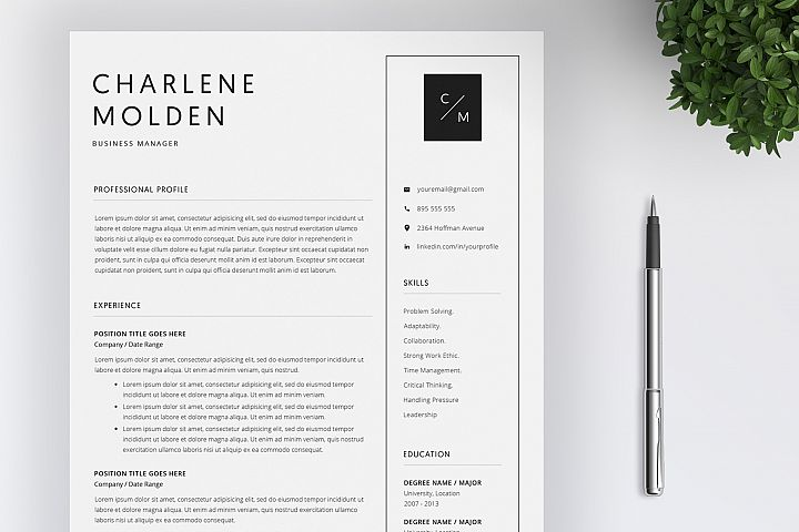 Creative Resume Template | Cover Letter