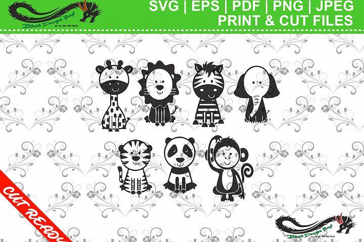 Set of 7 Cute Animals