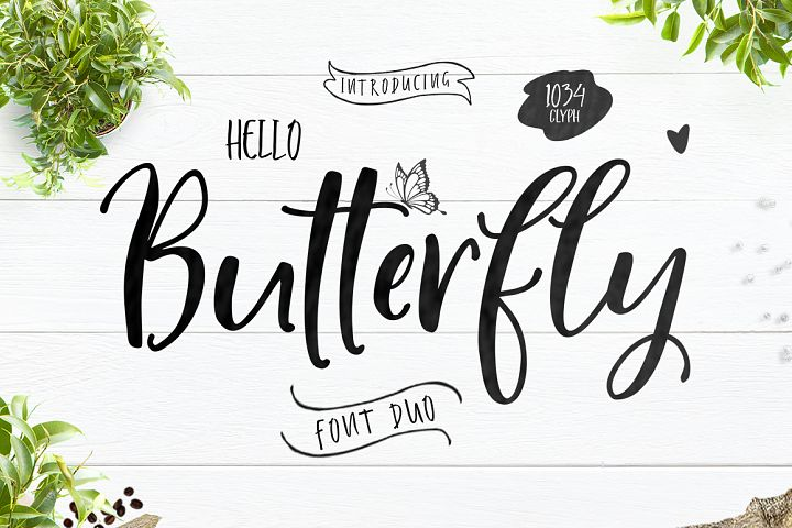 Hello Butterfly-Font Duo