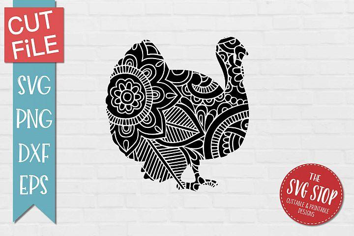 Mandala Turkey - SVG, PNG, DXF, EPS