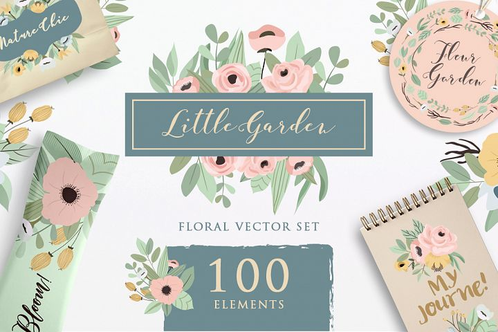 Little Garden - Floral Vector Set