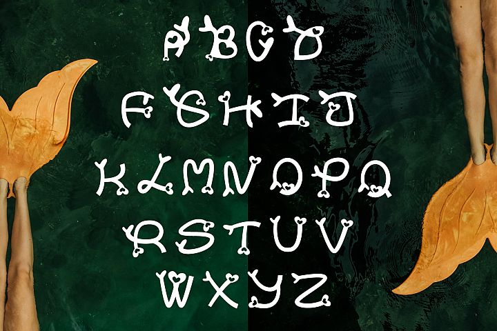 Sweet Mermaid - Handcrafted Cute & Fun Font example image 3