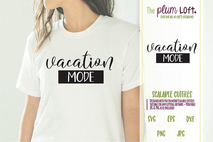Vacation Mode - Beach Palms - SVG Design