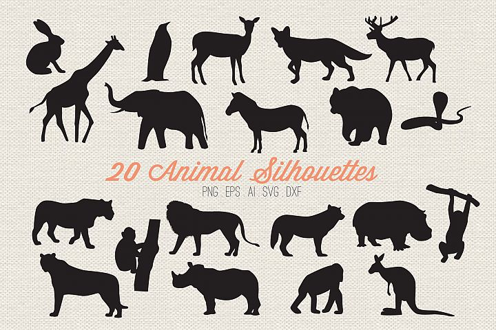 Animal Silhouettes Cut Files