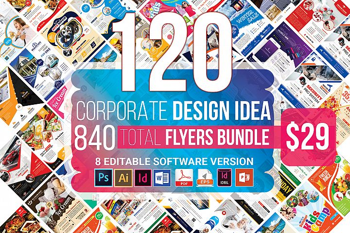 120 Corporate Flyer & Poster Bundle