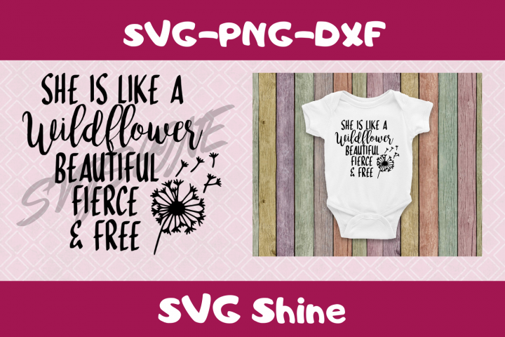 Wildflower SVG for Little Girl | Inspirational Quote