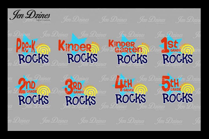 School Rocks Bundle SVG DXF EPS PNG