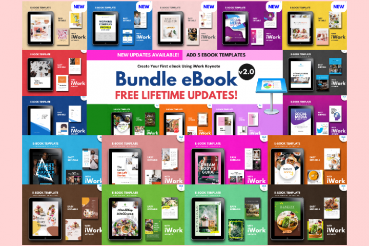 20 eBook Bundles v2.0 Template Editable Using iWork Keynote