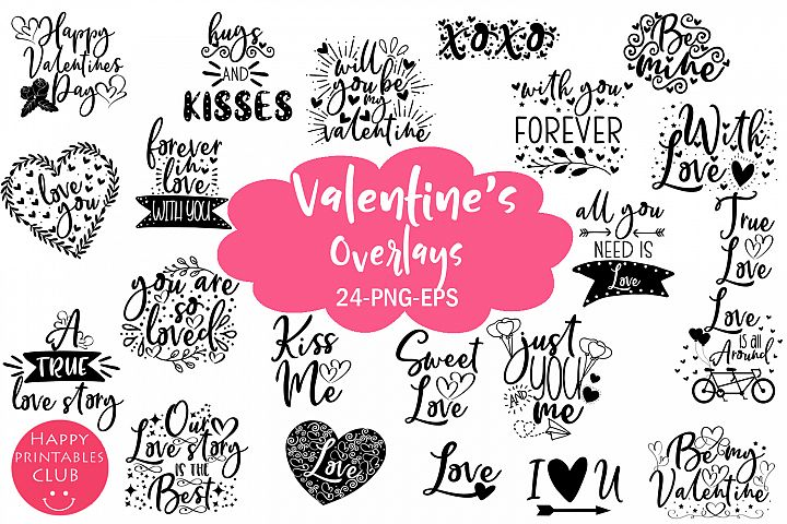 Valentines Day Overlays-Cute Valentine Overlays Collection