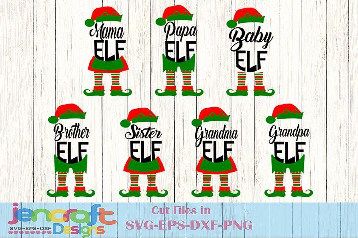 Christmas SVG Elf Family SVG, Elf Legs, Mama Grandma Papa