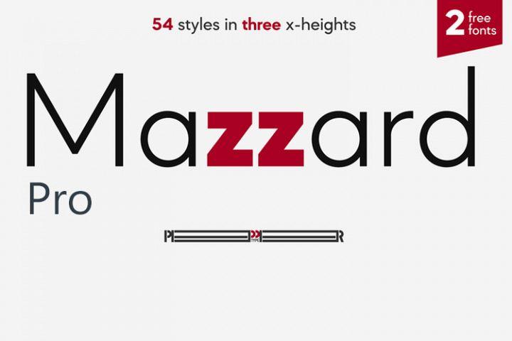 Mazzard Pro Font Family