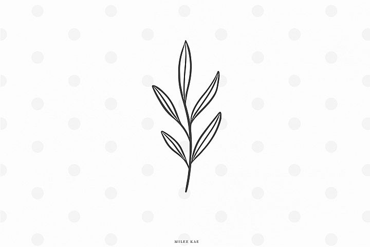 Botanical leaf svg cut file