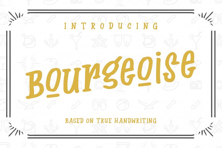Bourgeoise - Free Font of The Week Font
