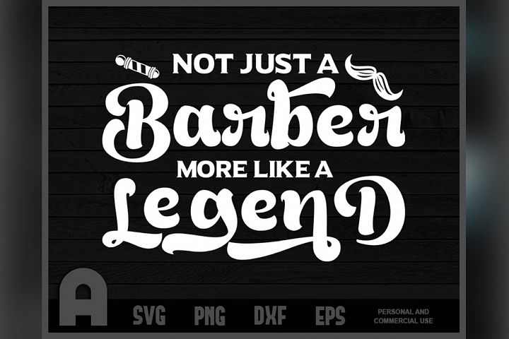 Straight Razor Legend Barbers hop Gift T Shirt Design