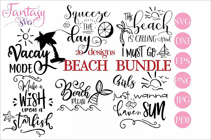 Beach BUNDLE - svg cut files